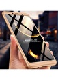 Microsonic Samsung Galaxy A9 2018 Kılıf Double Dip 360 Protective  Altın